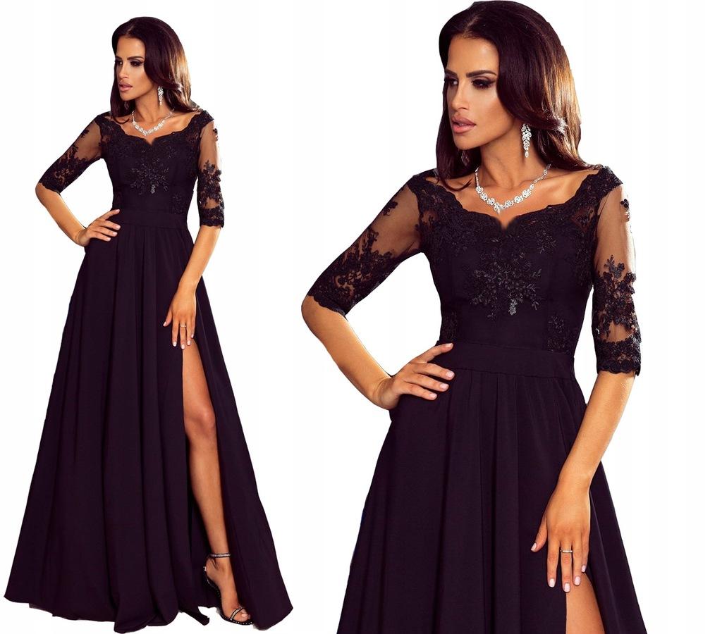 Sukienka elegancka długa koronka bal wieczorowa G