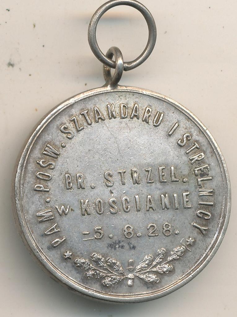 Bractwo Kurkowe Kościan 1926 r Srebro 800 sygn.J.P