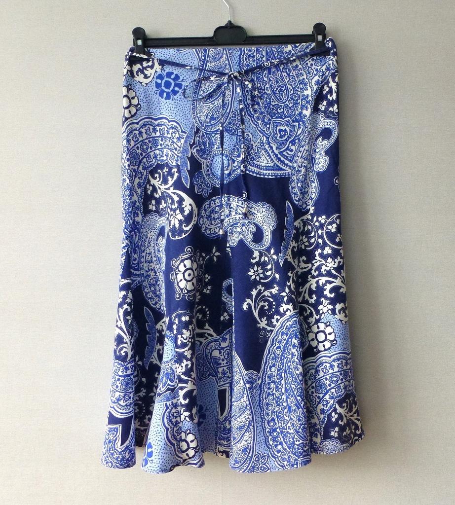 Marks&Spencer lniana spódnica na gumce S M