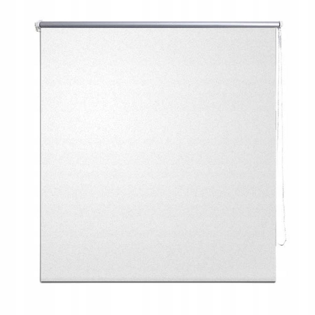 Roleta okienna zaciemniająca biała 160 x 175 cm