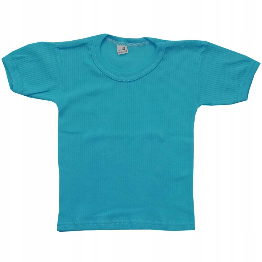 Wyprzedaż ! Koszulka krótki rękaw 98 cm Turkus
