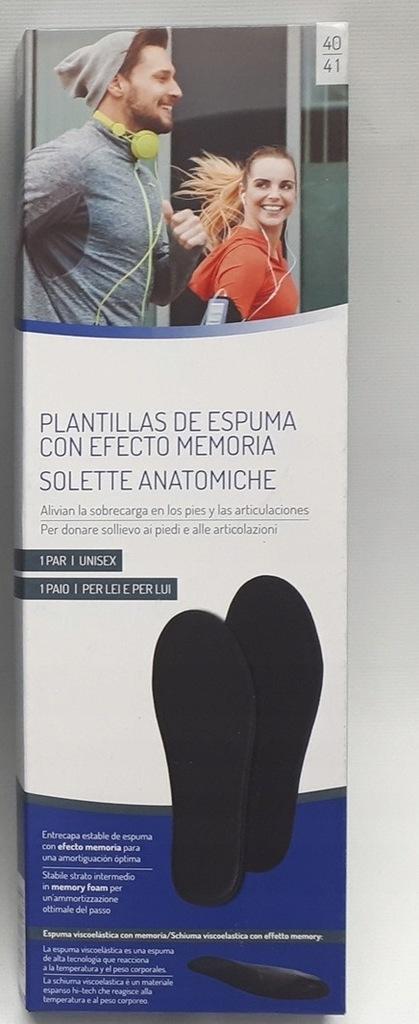 Wkładki do butów z pianki memory r.40/41