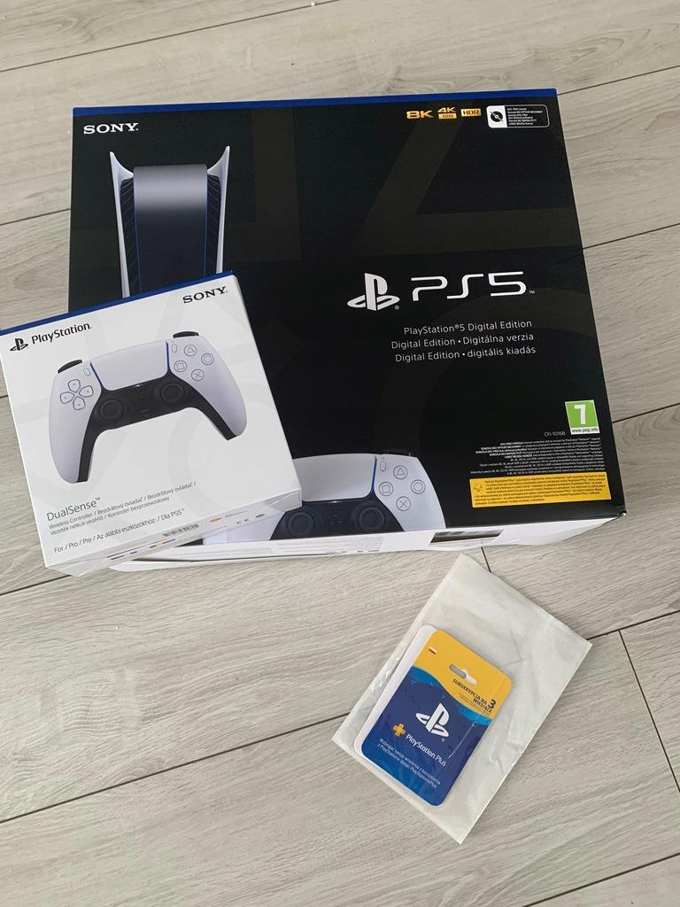PlayStation 5 Digital Edition + PAD + 100 zł bon