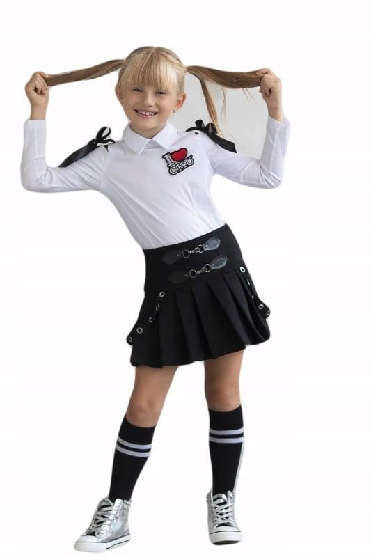 Koszula dziewczęca z kokardkami MałaMi 158-164