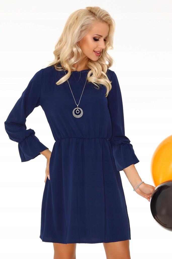 Granatowa zmysłowa sukienka rozmiar M