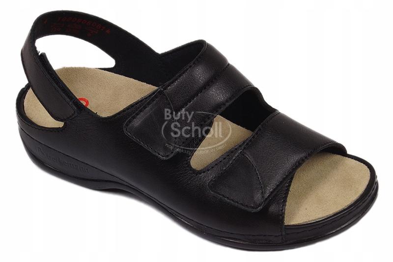 Archiwalne: Obuwie zdrowotne, sandały damskie z zabudowaną