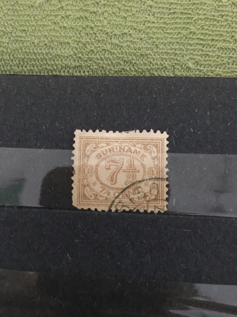 Znaczek Holandia 1931 Suriname 7 1/2
