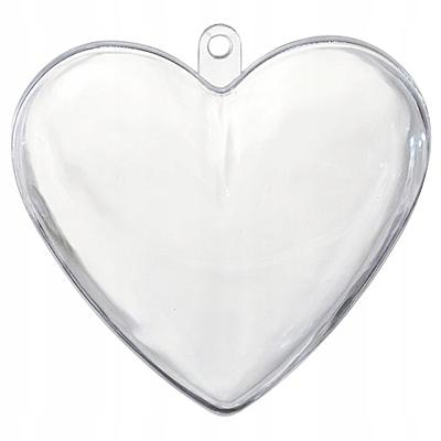 Serce Akrylowe Przezroczyste Plastik 10cm Bombka 7665348190 Oficjalne Archiwum Allegro