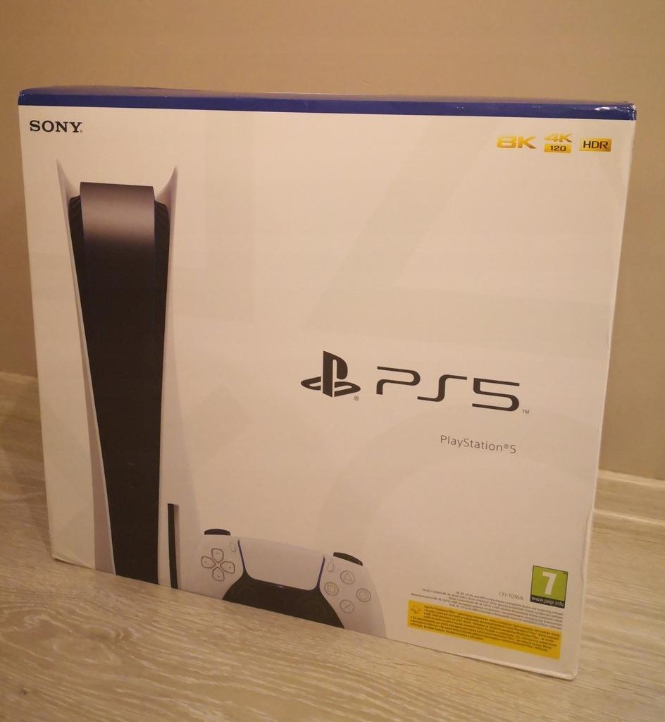 Konsola Playstation PS5 wersja z napędem Nowa