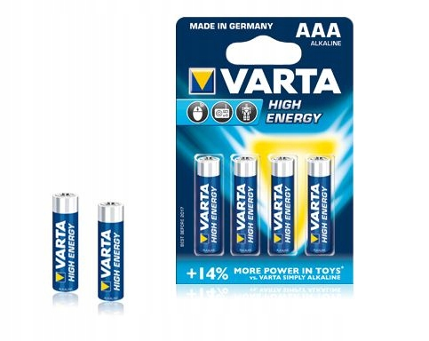Bateria alkaliczna VARTA LR03 HIGH ENERGY 4szt./bl