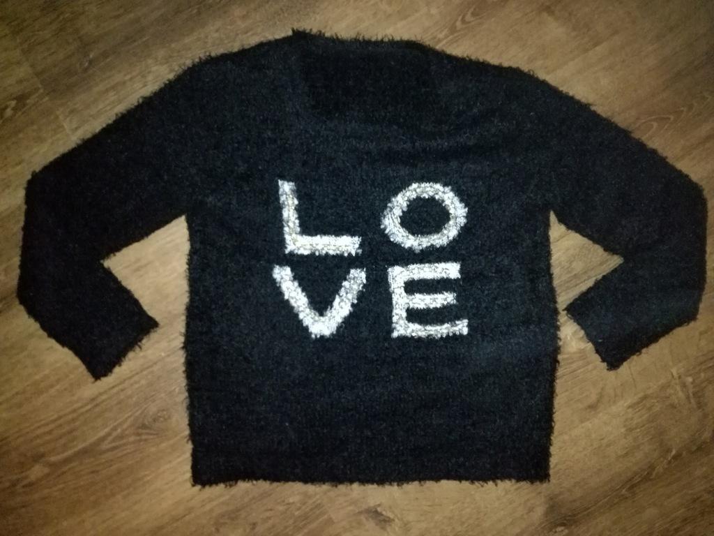 LOVE Sweter z łańcuszkiem sweterek włochacz 158