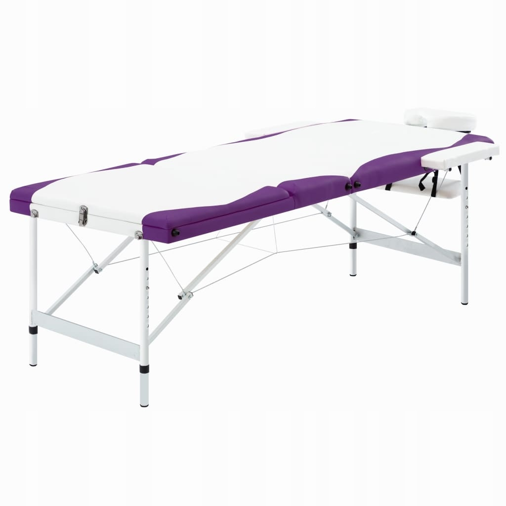 3-strefowy, składany stół do masażu, aluminium, bi