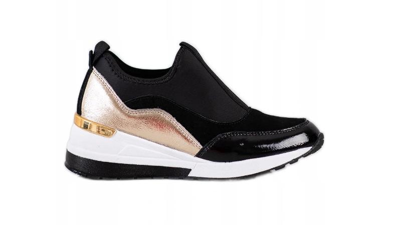 GOODIN Skórzane Sneakersy Na Koturnie wsuwane r 36
