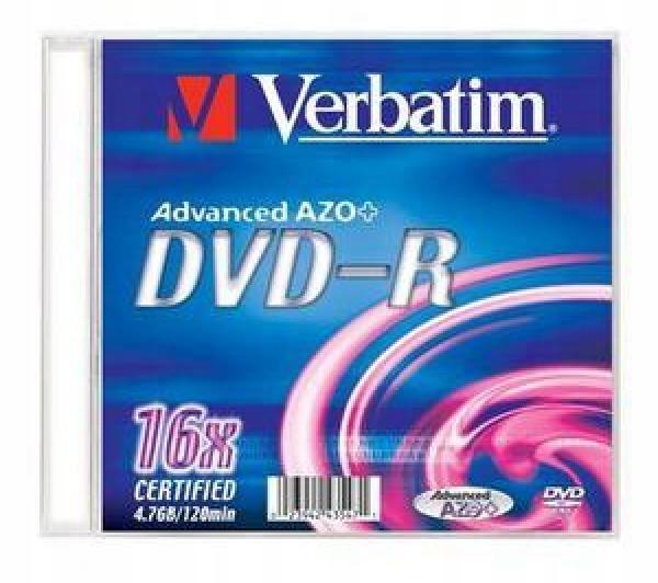 Płyta Verbatim DVD-R Advanced AZO Slim Case 1 szt