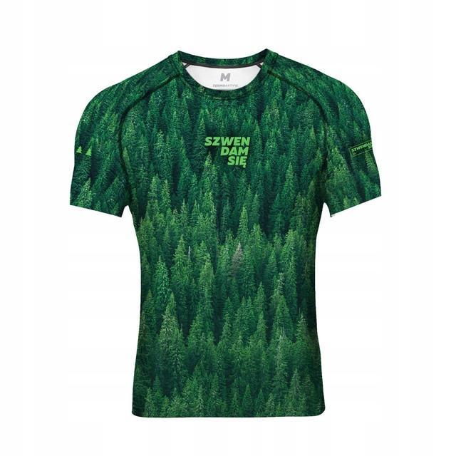 Koszulka wspinaczka oddychająca termo zielona XL