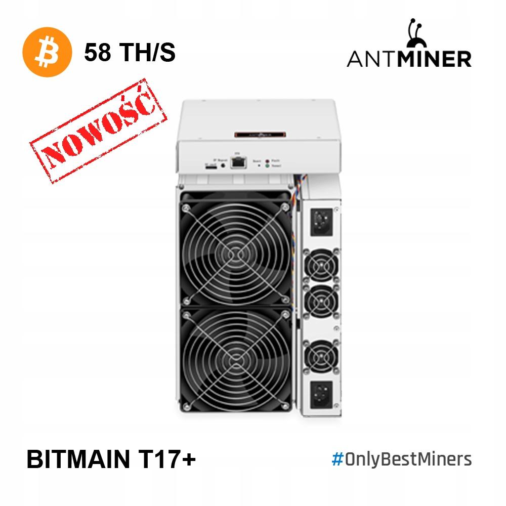 Bitmain Antminer T17+ 58Th Od Ręki!