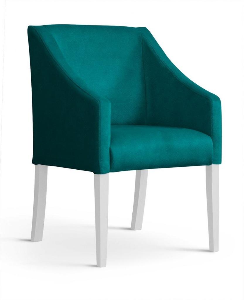 Fotel CAPRI morski/ noga biała/ BL85