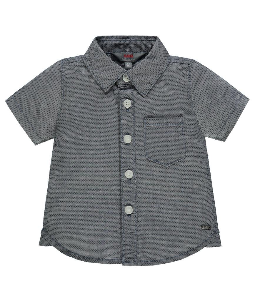 KANZ Chłopięca koszula z krótkim rękawem r.128