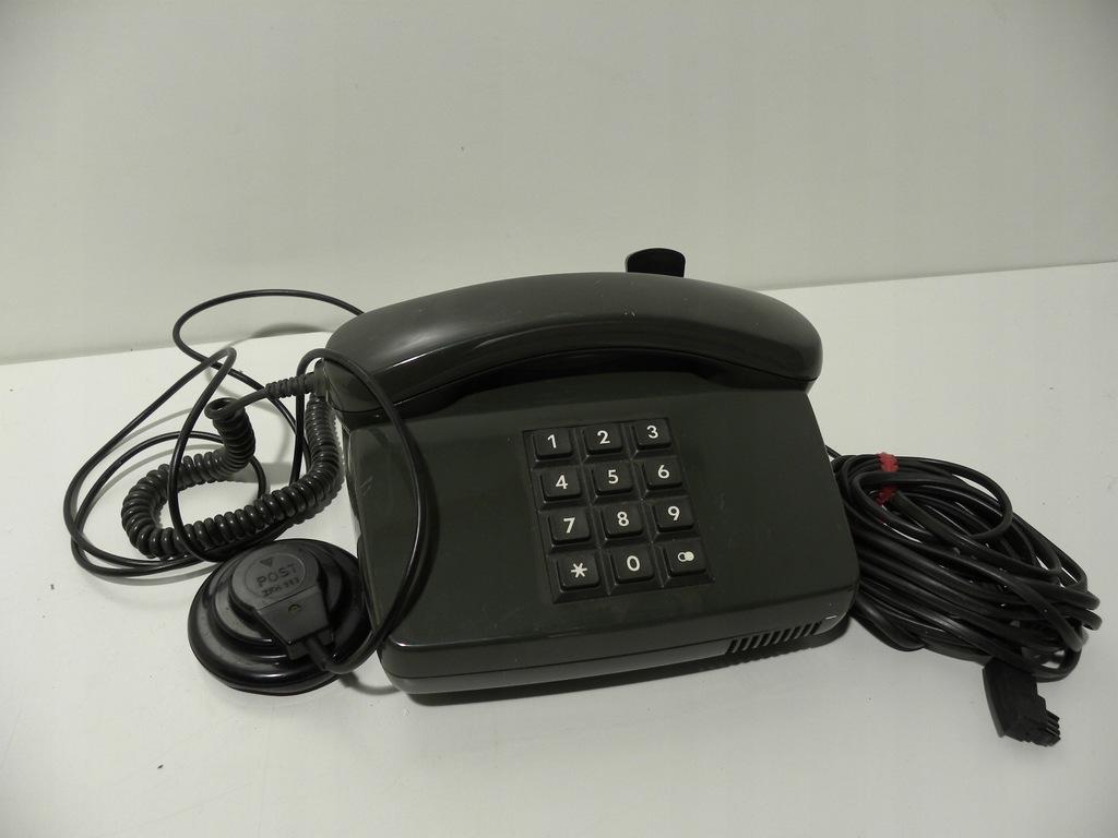 RETRO TELEFON Z PRZYCISKAMI ZIELONY POCZTOWY