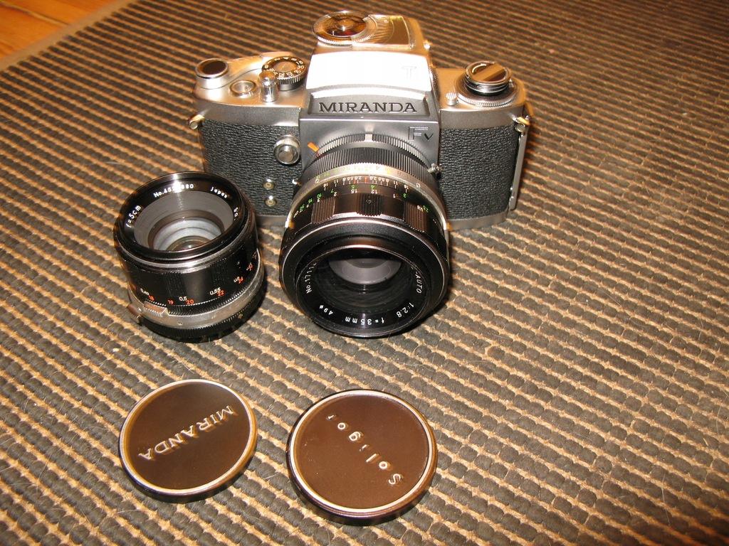 aparat MIRANDA FV +obiektywy 1,9/50 2,8/35mm