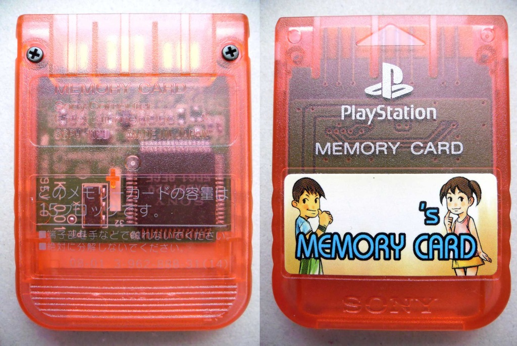 Karta Pamięci Sony Oryginał PS1 PSone PSX PS2