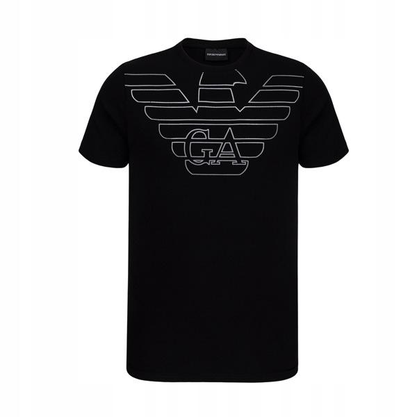 EMPORIO ARMANI czarny t-shirt męski EA7 E17 r.L