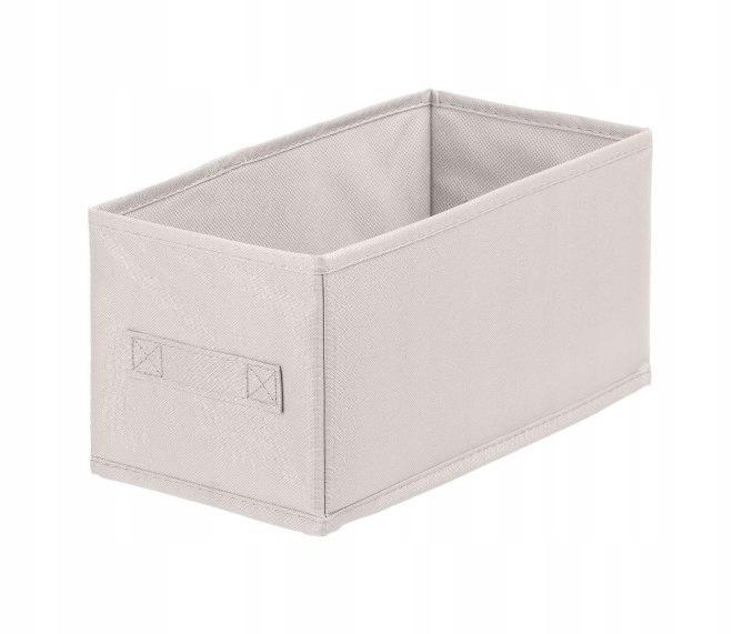 Pudełko tekstylne ANABEL 15x31x15cm kremowy 7l sza
