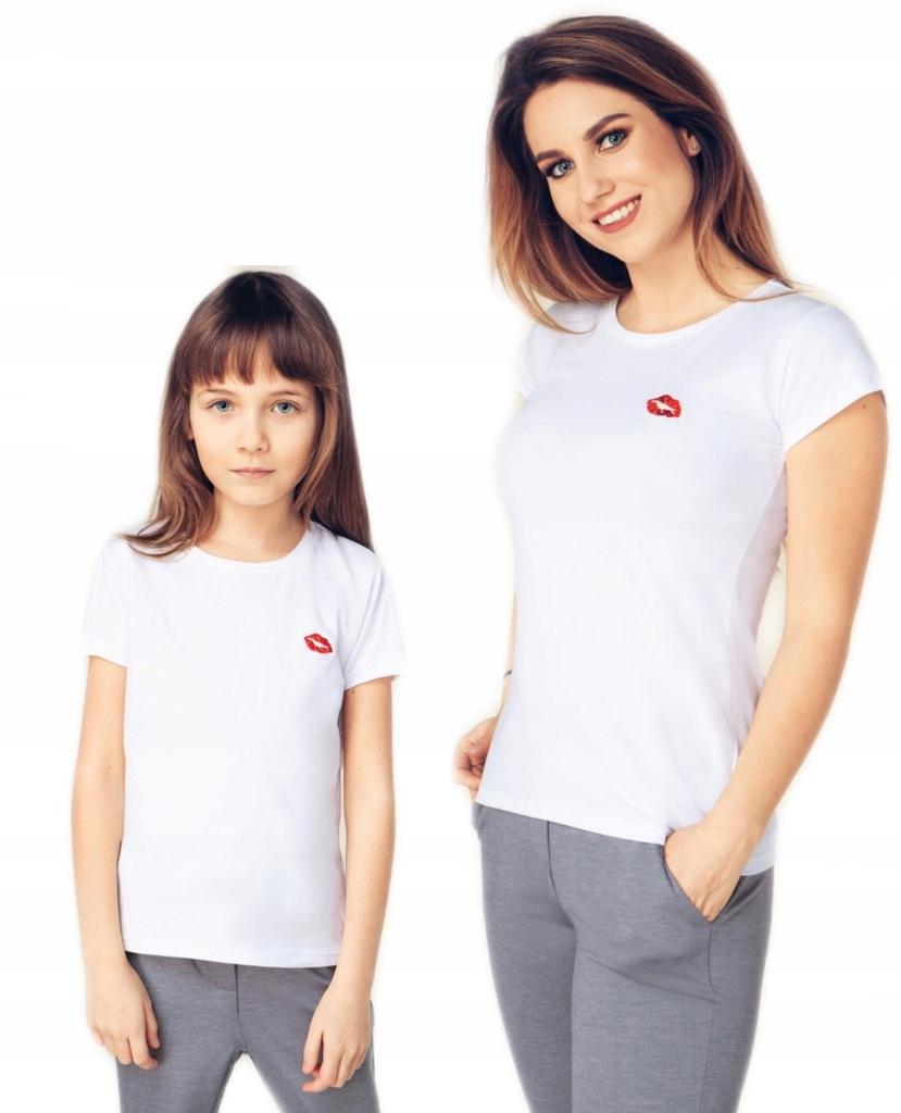 Me&Mom T-shirt KISS taki sam Mama i Córka 116