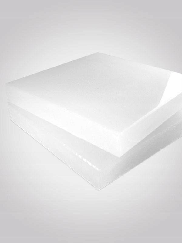 Płyta polietylen PE500 25cm x 25cm #30mm biały