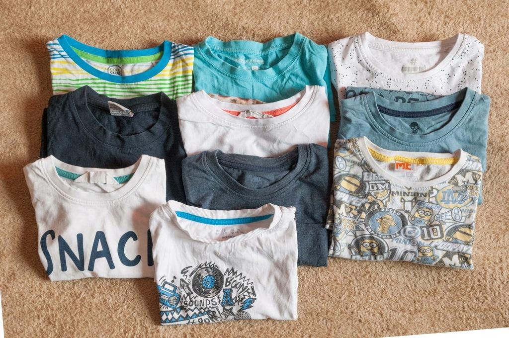 10 t-shirt krotki rekaw 122-128