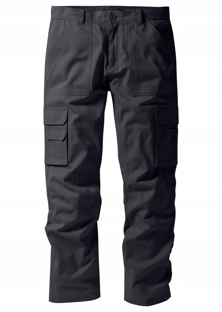 Spodnie męskie bojówki casual szare bonprix 52