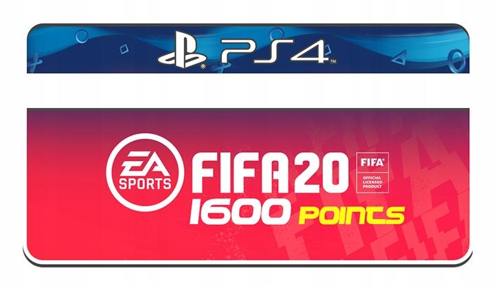 FIFA POINTS 1600 PS4 PLAYSTATION 4 FIFA 20 FUT