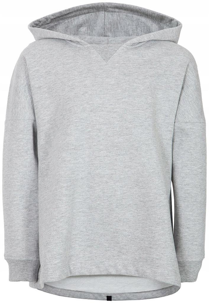 Bluza dziewczęca z kapturem 4F JBLD100 szara 128cm