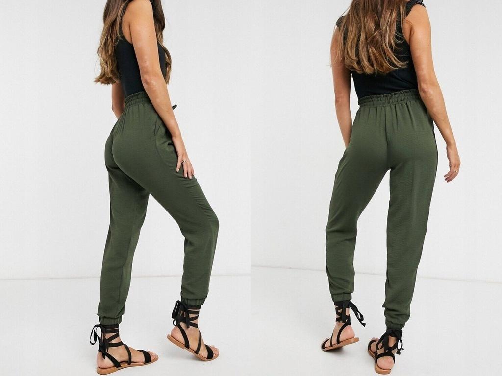 NEW LOOK luźne spodnie khaki joggersy M/38
