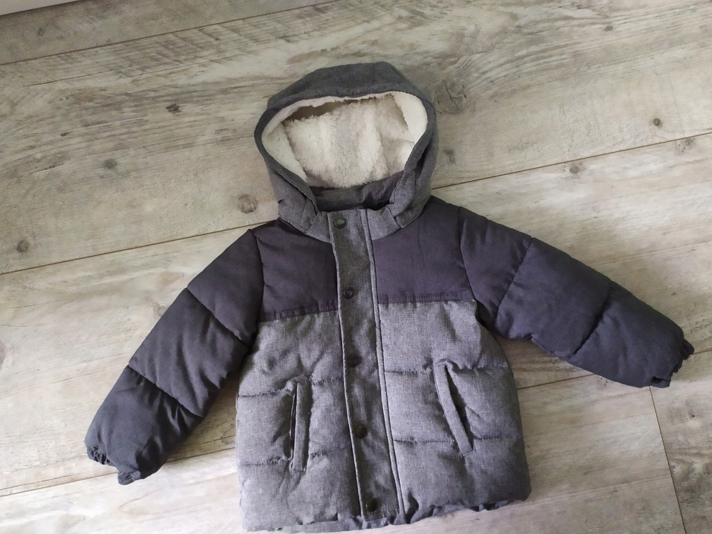 H&m kurtka zimowa puchowa pikowana chłopiec