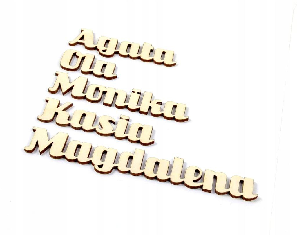 Imię ze sklejki - sklejka szlifowana 3mm h=25mm