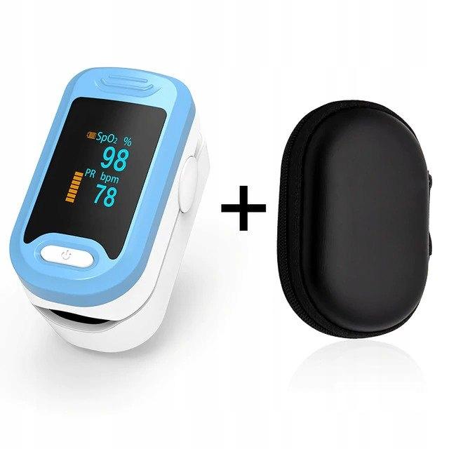 Pulsoksymetr medyczny napalcowy OLED + Etui tanio!