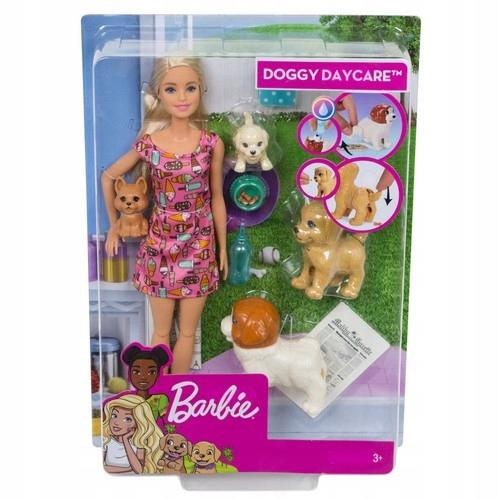 Barbie. FXH08 Opiekunka piesków + lalka