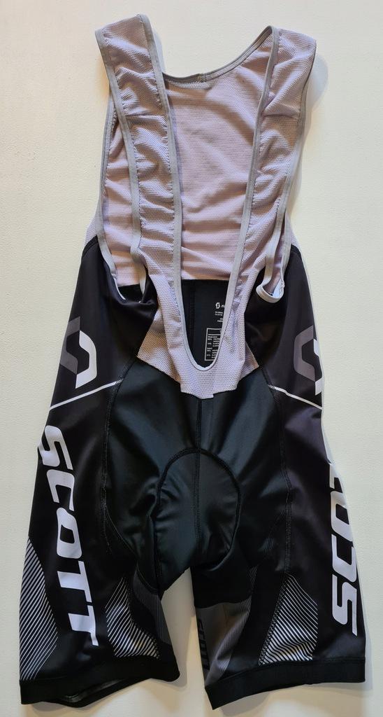 SCOTT spodenki kolarskie rowerowe szelki wkładka M