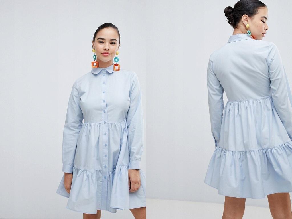 New Look - sukienka koszulowa na guziki XXS/32