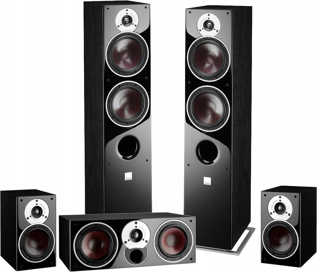 Dali Zensor 7 + 1 + Vocal czarne + dobre kable !!