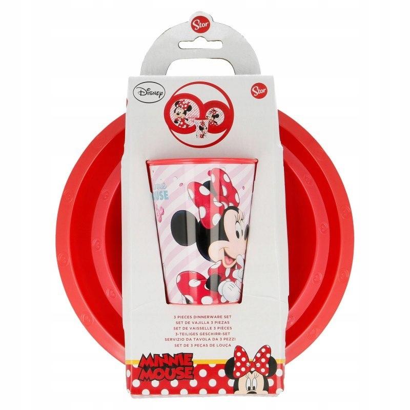 Minnie Mouse - Zestaw naczyń (talerz, miska i kube