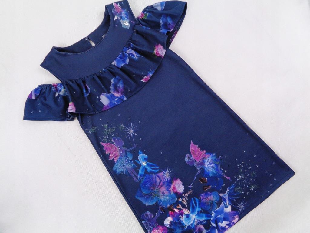 Next piękna sukienka Wróżka Kwiaty Idealna 122 cm