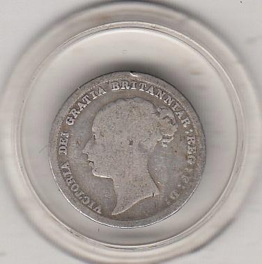 W.Brytania 6 pence 1885