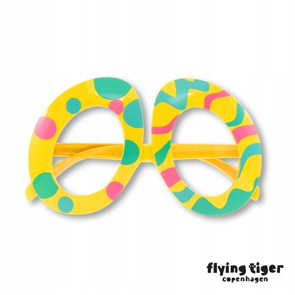 Okulary imprezowe śmieszne WIELKANOC Flying Tiger