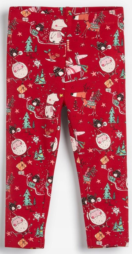 NEXT Legginsy Red Christmas 2-3 L 2019