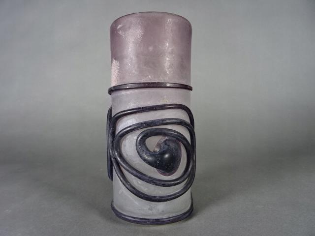 Pucharek Wazonik szkło rwane