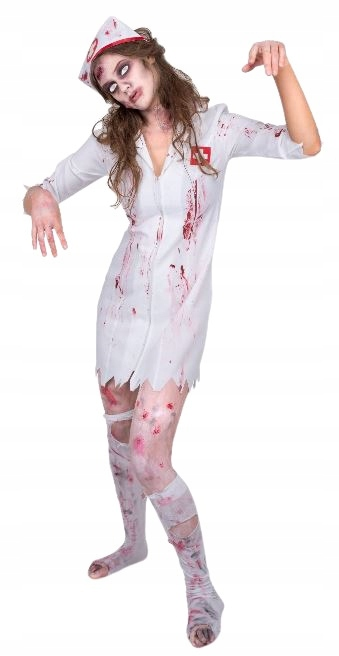 Partychimp kostium pielęgniarki zombie poliester 2