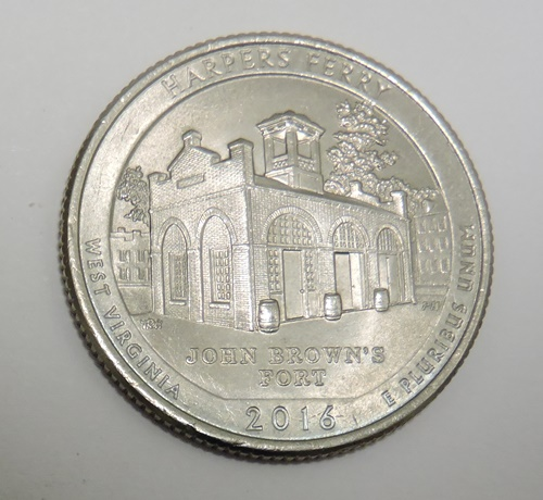 USA 25 cents 2016P Harpers Ferry -West Virginia