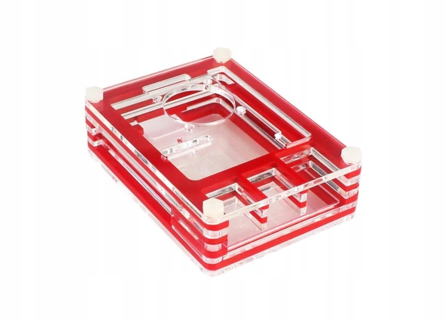Obudowa Raspberry Pi 3/2 - czerwono-przezroczysta